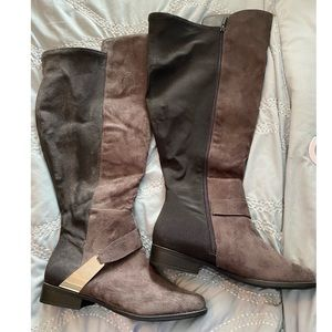 LB Over The Knee Boot W/Metal Harness Hardware 11W